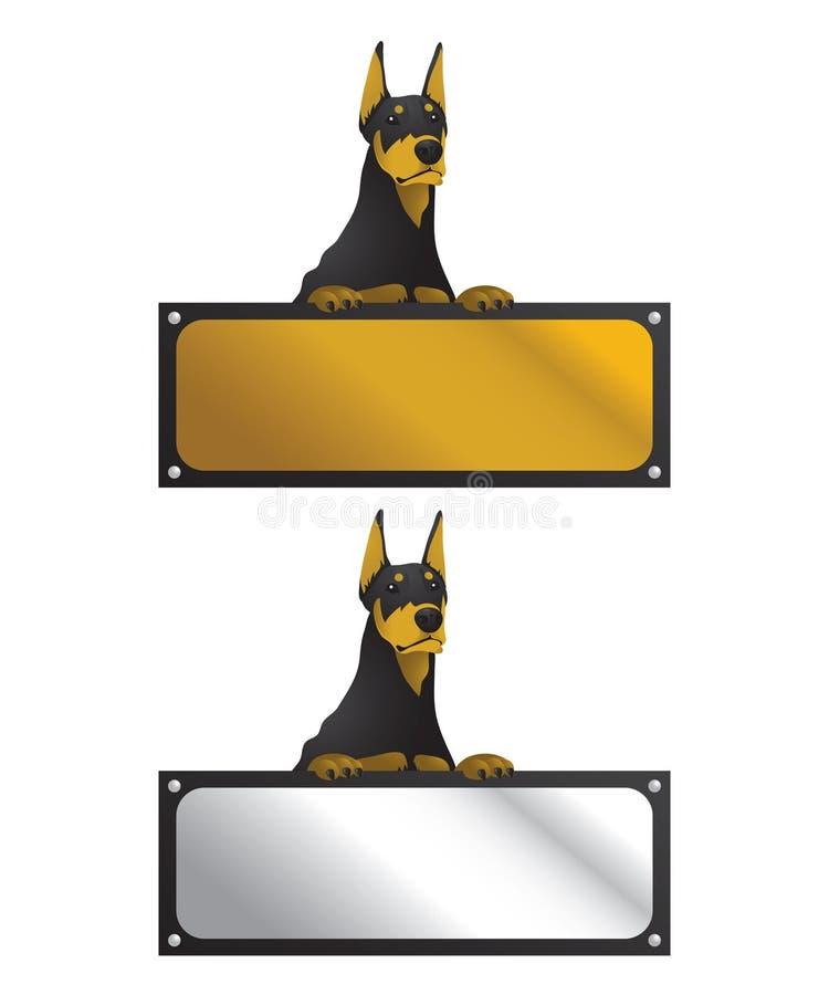 董事会短毛猎犬水平的符号 库存例证