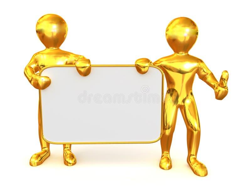 董事会空的人二 向量例证