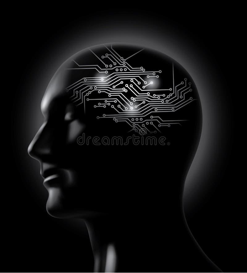 董事会脑子突发的灵感电路概念向量 皇族释放例证
