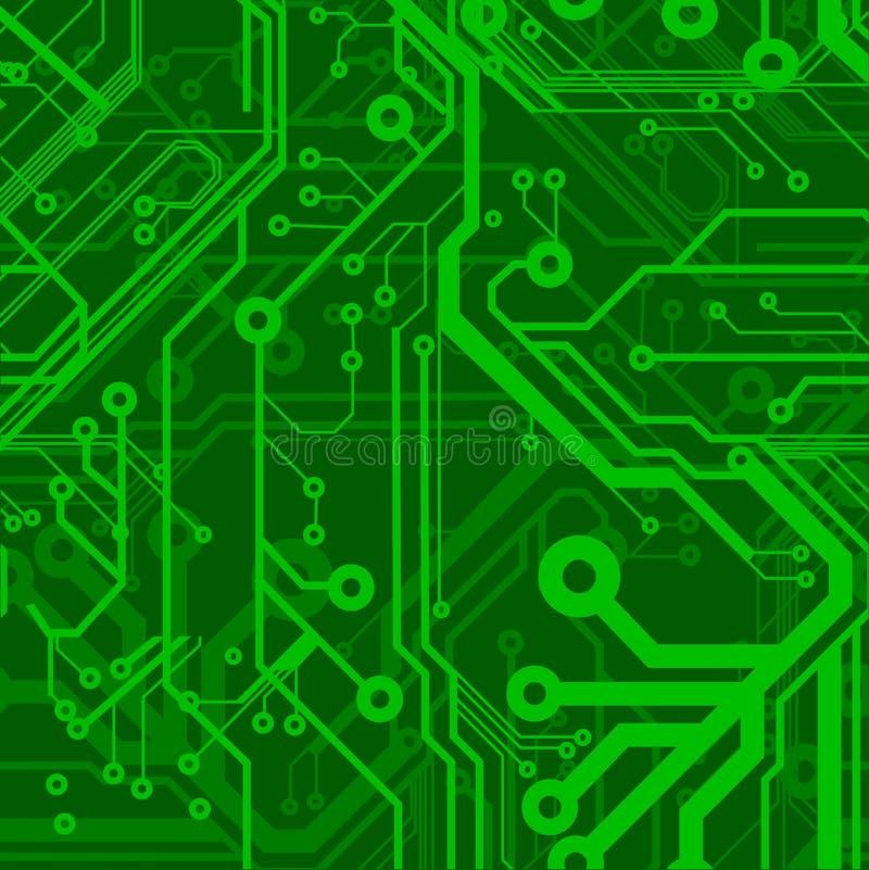 董事会被打印的电路绿色 皇族释放例证