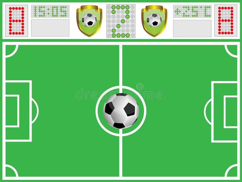 董事会足球场体育运动 向量例证