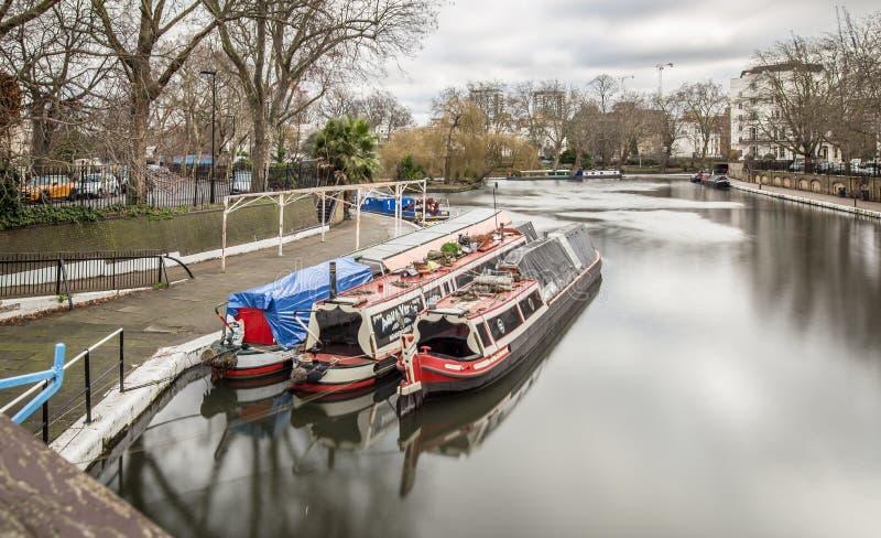 董事运河,伦敦早晨视图  库存图片