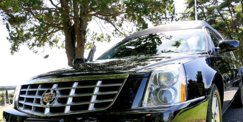 葬礼的一辆柩车 免版税库存照片