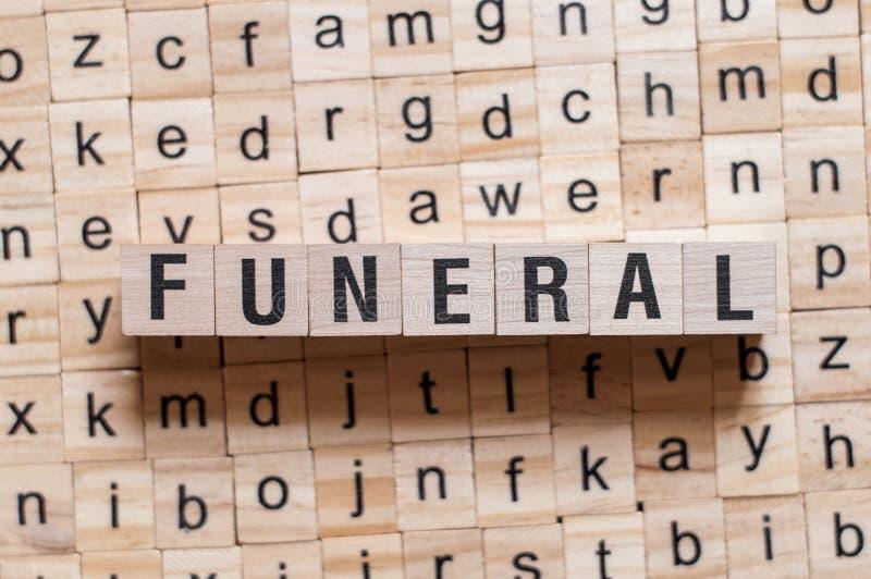 葬礼词概念 库存照片