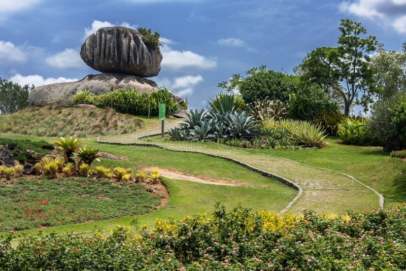 葱石头在Vitoria圣埃斯皮里图巴西 免版税库存图片