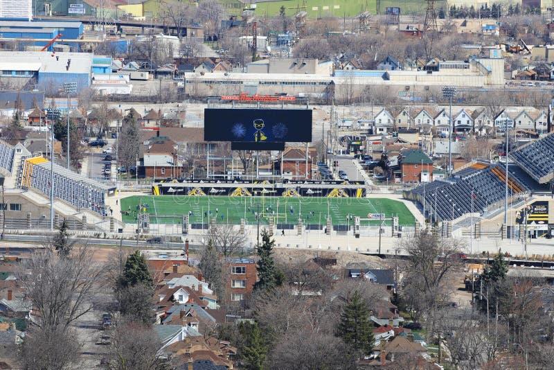 蒂姆・霍顿体育场在哈密尔顿,加拿大 库存照片