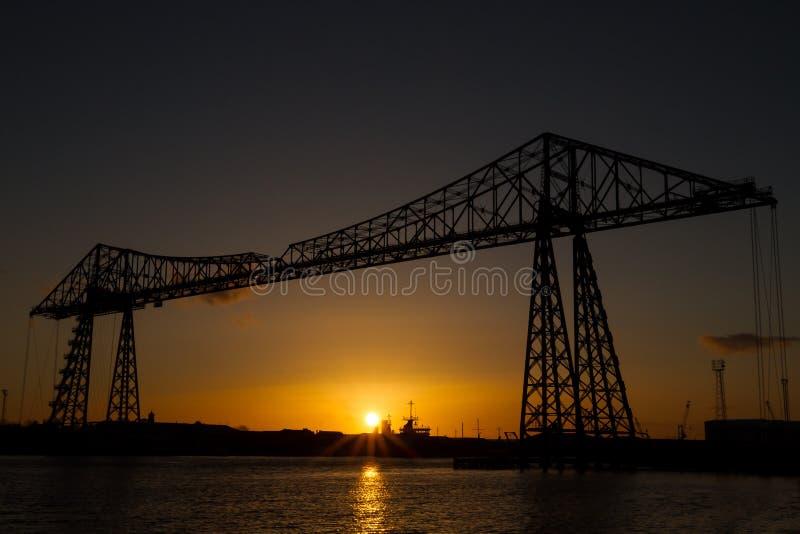 蒂斯河运输者桥梁 免版税库存照片