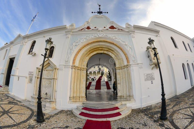 蒂诺斯岛海岛修道院 库存照片