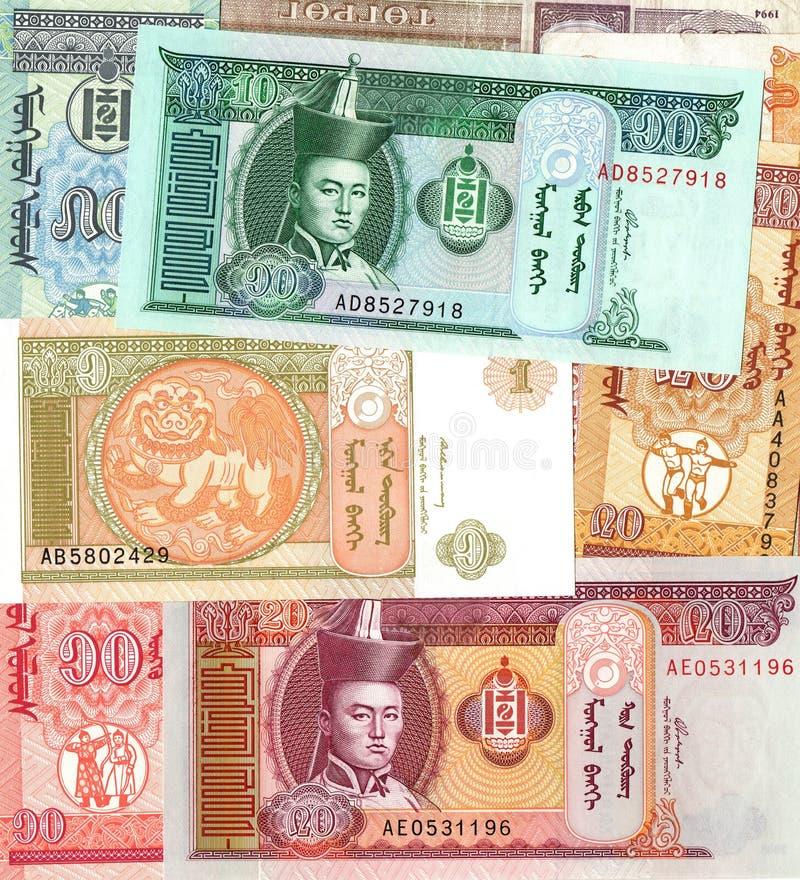 蒙古图格里克金融法案背景  库存照片