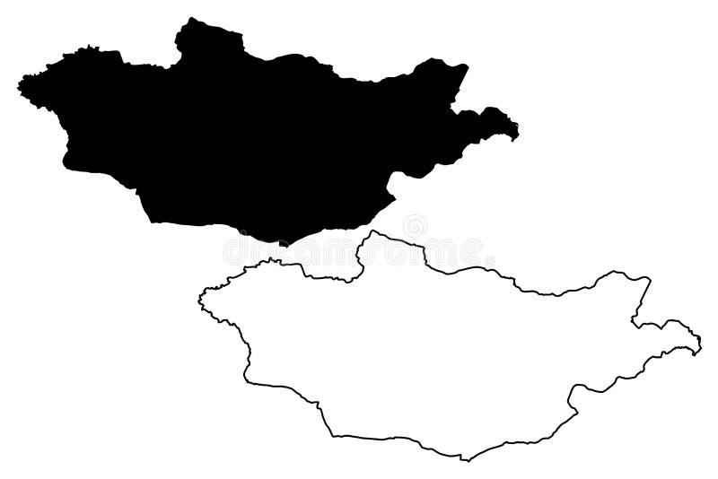 蒙古地图传染媒介图片