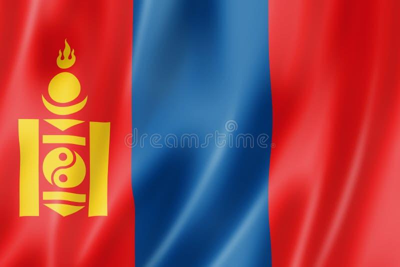 蒙古旗子 向量例证