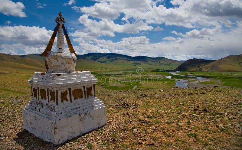 蒙古的佛教寺庙 免版税库存图片