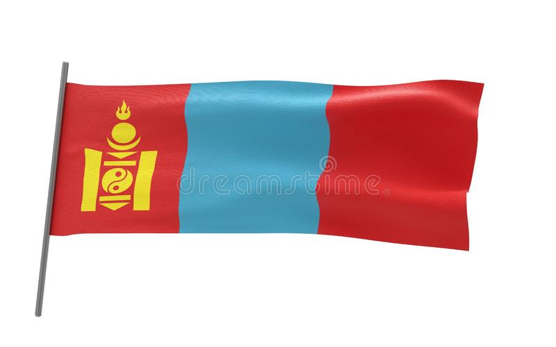蒙古的旗子 皇族释放例证