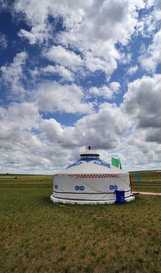 蒙古程序包Yurt 免版税库存图片