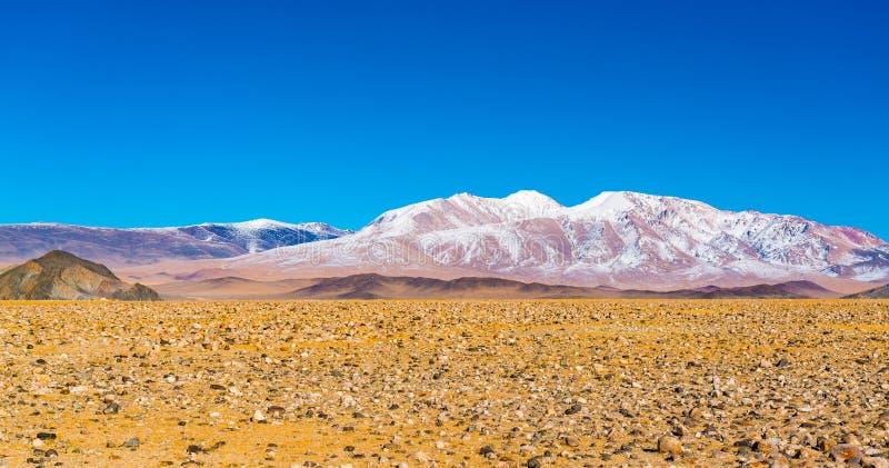 蒙古西部的秋天风景 库存图片