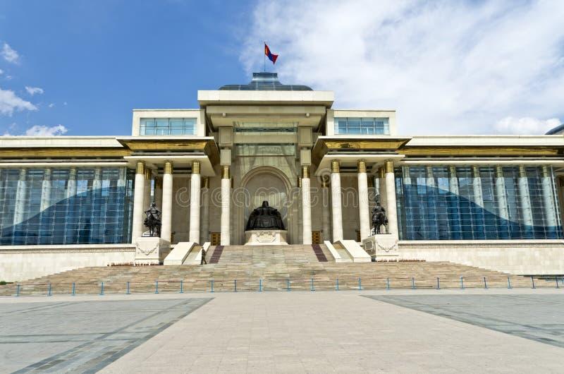 蒙古议会, Ulaan Bataar 免版税库存照片