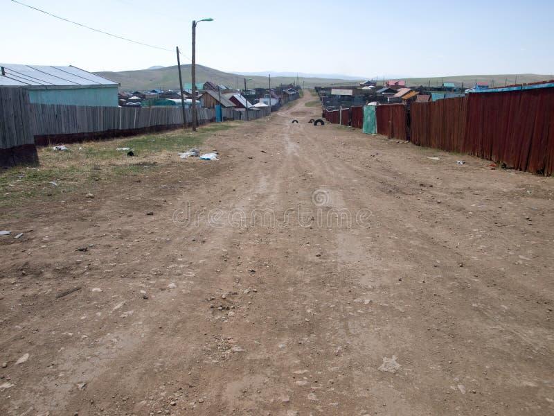 蒙古贫民窟街道 库存图片