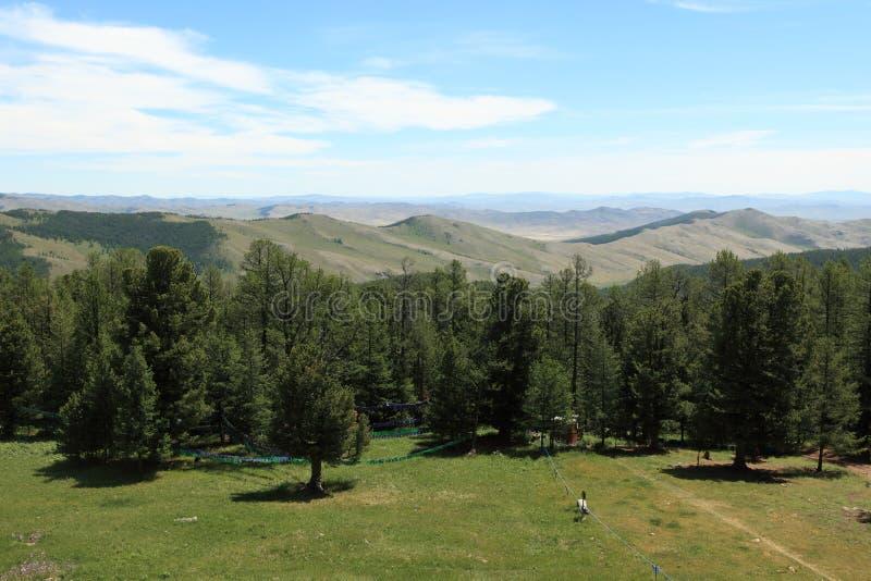 蒙古风景和自然 免版税库存照片