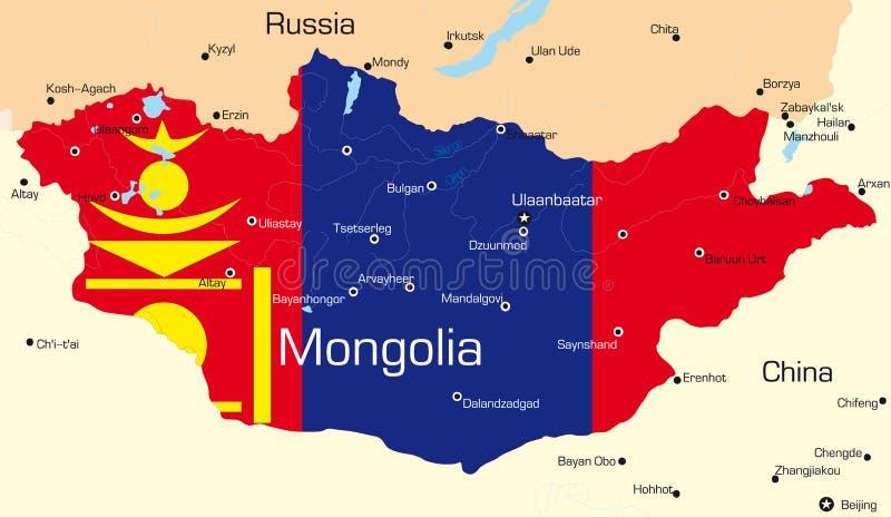 蒙古 库存例证