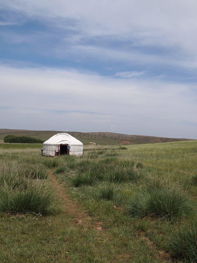 蒙古yurt 免版税图库摄影