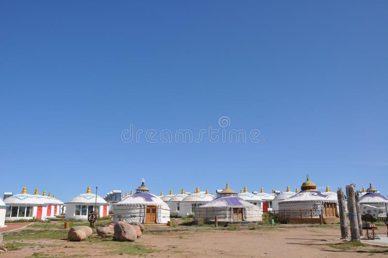 蒙古yurt 免版税库存照片