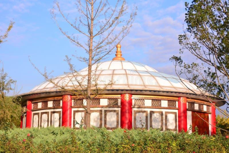 蒙古yurt 库存照片