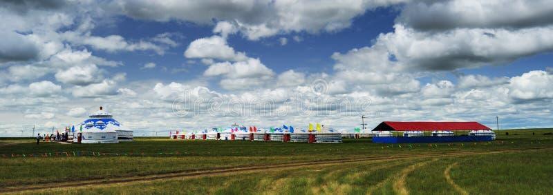 蒙古yurts 免版税图库摄影