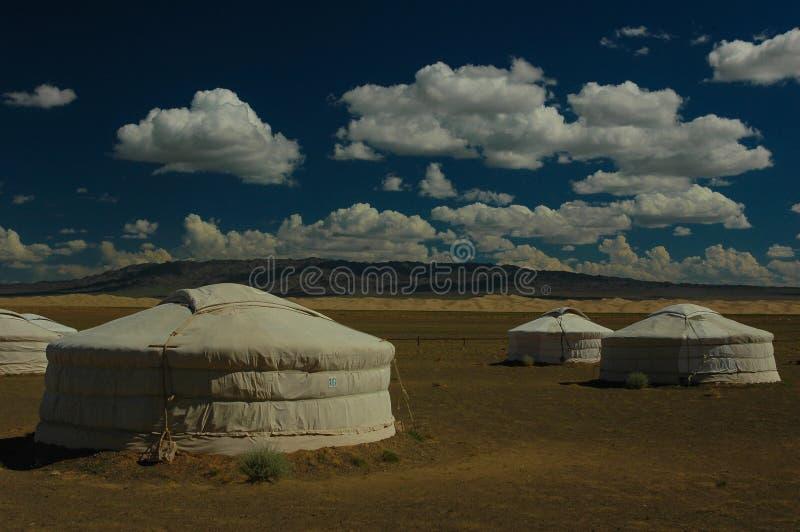 蒙古yurts 免版税库存图片