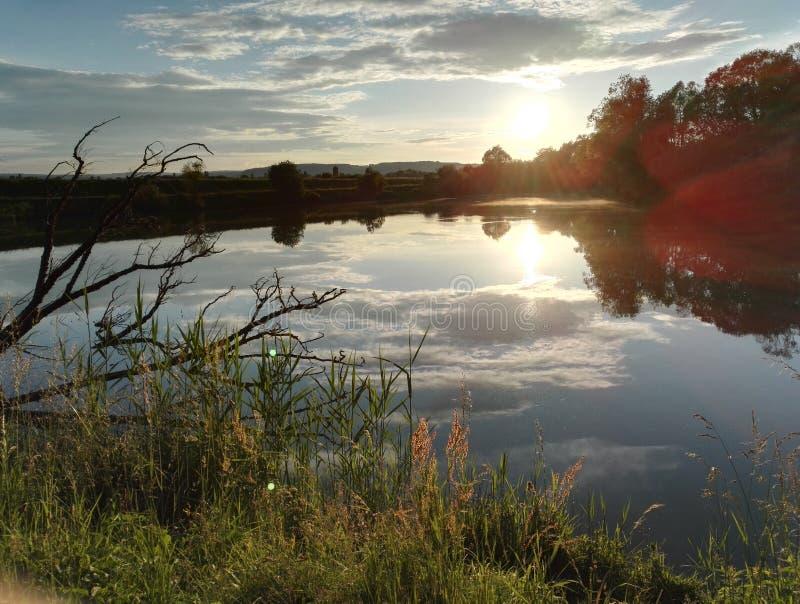 蒙塔尼湖在法国 免版税图库摄影