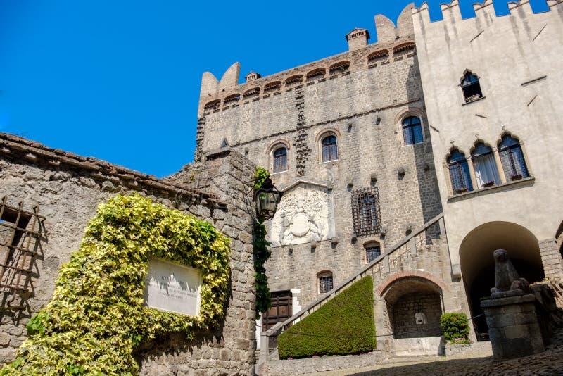 蒙塞利切城堡Colli Euganei地区帕多瓦省威尼托地区意大利 库存照片