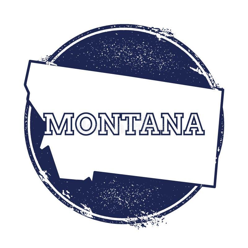 蒙大拿传染媒介地图 皇族释放例证