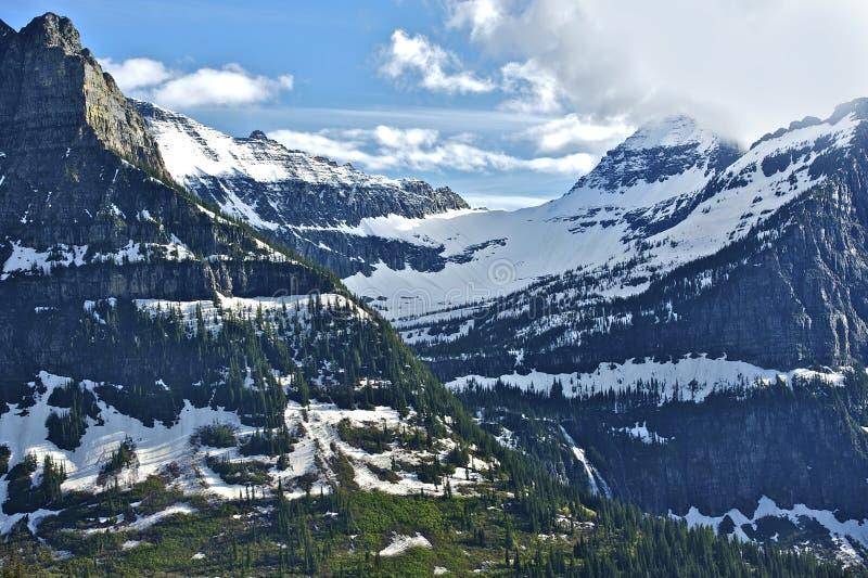 蒙大拿山 库存照片
