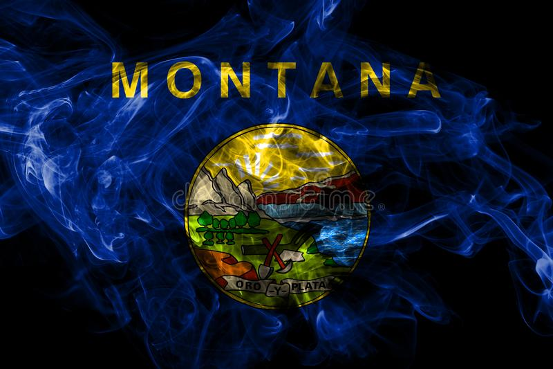 蒙大拿州烟旗子,美国 向量例证