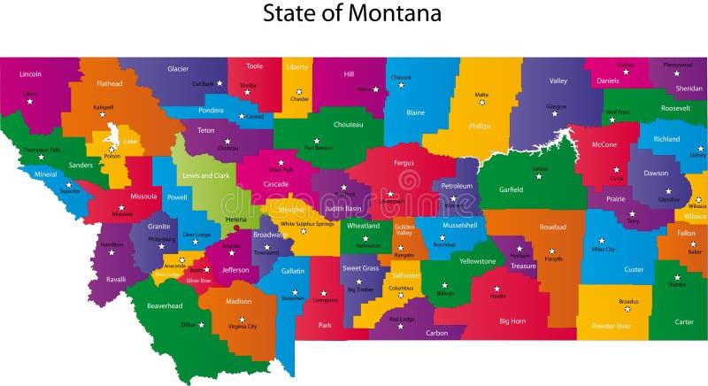 蒙大拿州 向量例证