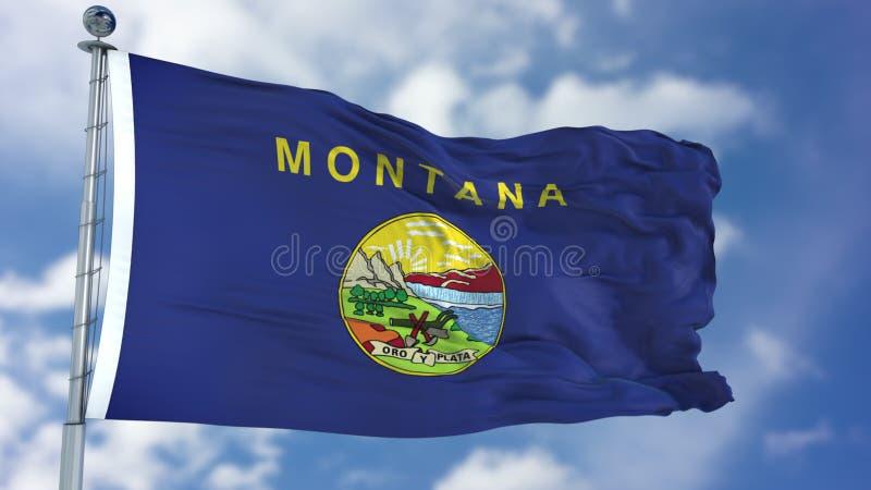 蒙大拿挥动的旗子 库存图片