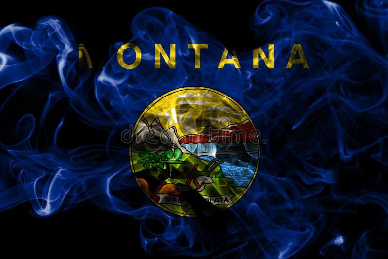 蒙大拿状态烟旗子,美利坚合众国 向量例证