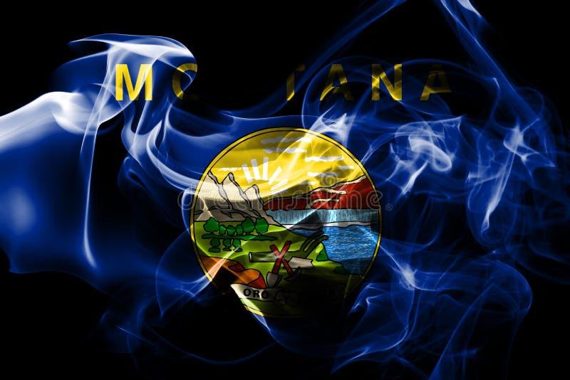 蒙大拿状态烟旗子,美利坚合众国 皇族释放例证