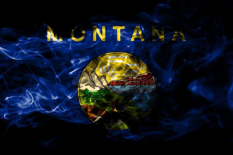 蒙大拿状态烟旗子,美利坚合众国 免版税库存图片