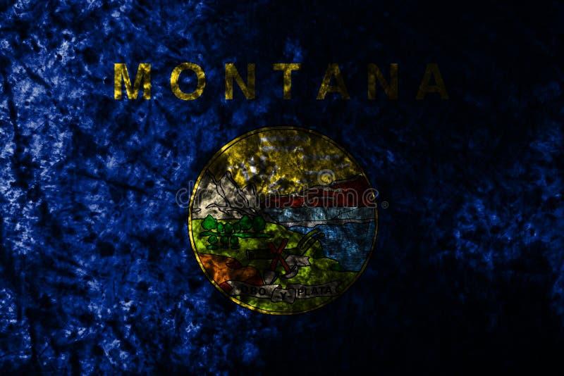 蒙大拿状态难看的东西旗子,美利坚合众国 皇族释放例证