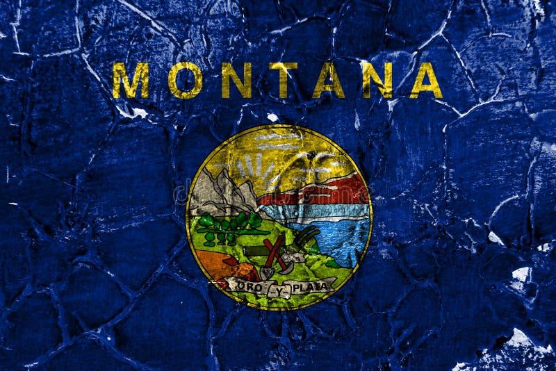 蒙大拿状态难看的东西旗子,美利坚合众国 向量例证