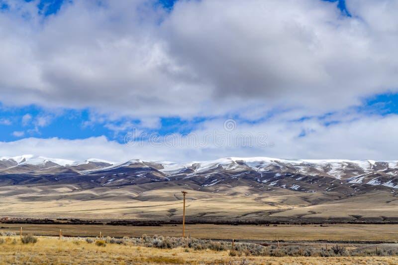 蒙大拿风景大天空国家  库存图片