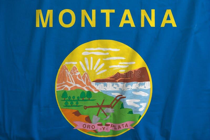 蒙大拿,美国的旗子挥动 图库摄影