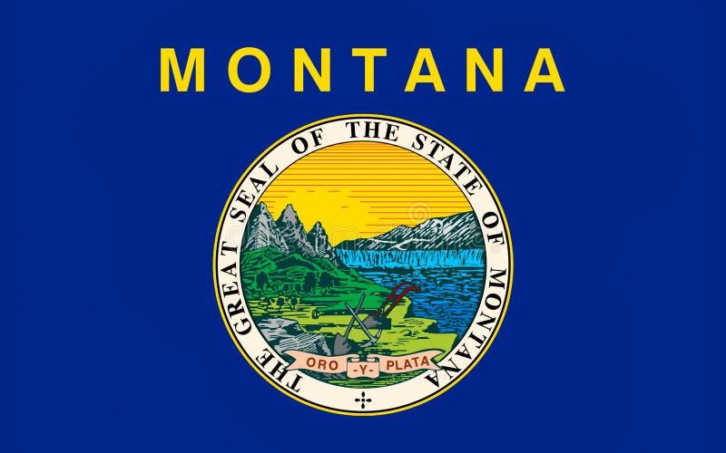 蒙大拿,美国的旗子 免版税库存图片