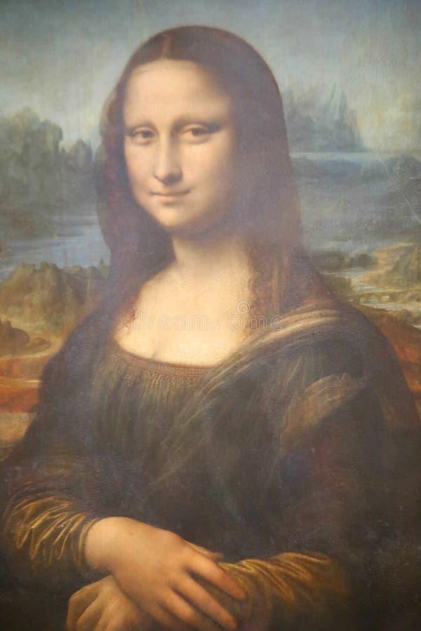 蒙娜丽莎-罗浮宫的 库存照片