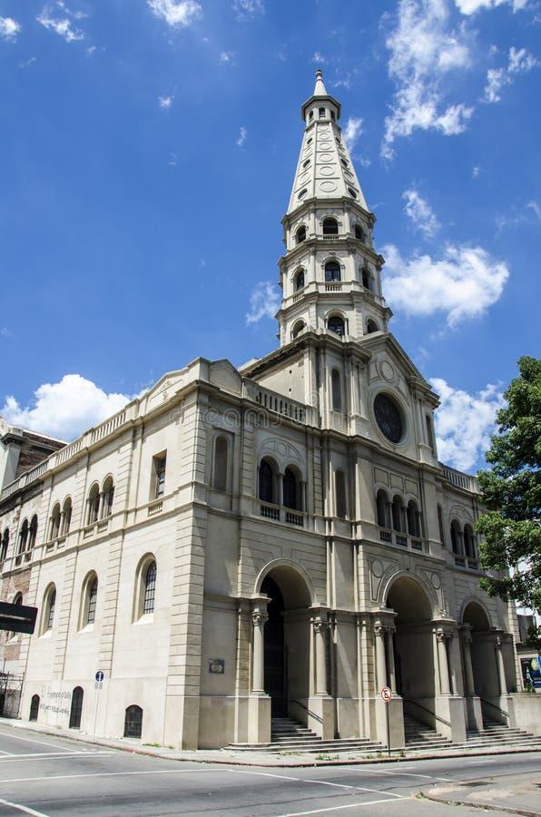 蒙得维的亚教会 免版税库存照片