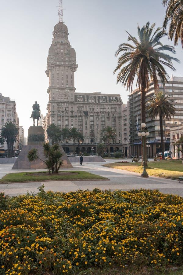 蒙得维的亚palacio齐射乌拉圭 免版税库存图片