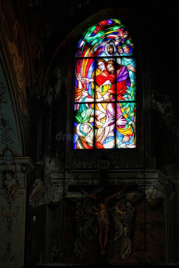 蒙扎, ITALY/EUROPE - 10月28日:主教的座位的内部看法 库存照片