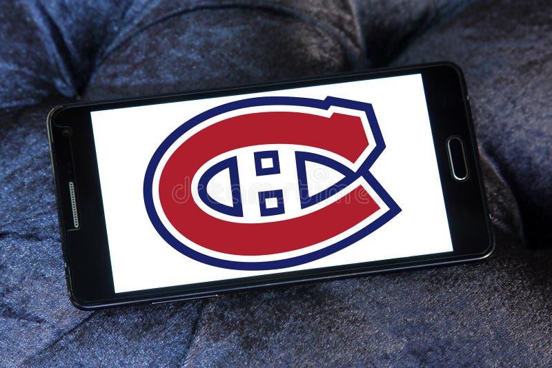 蒙特利尔加拿大人队冰球队商标 免版税图库摄影
