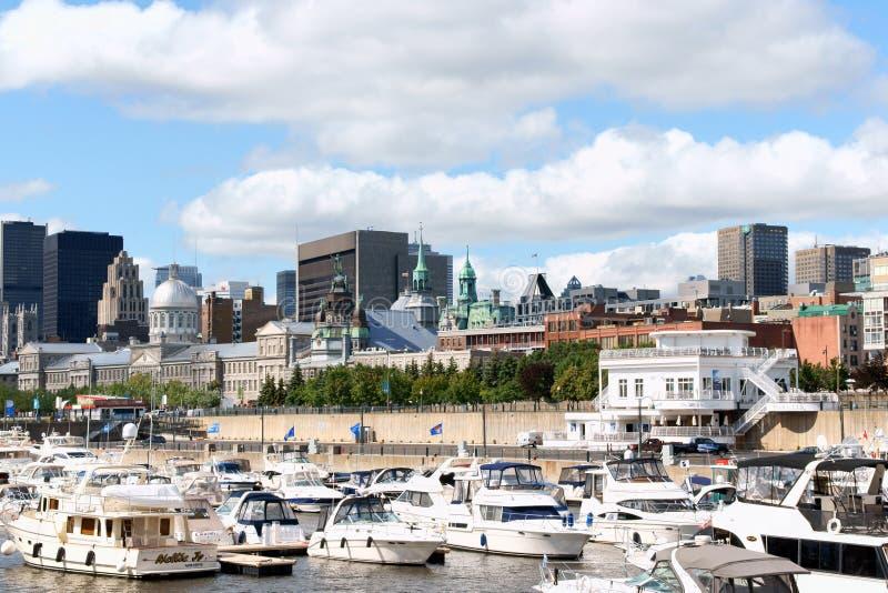 蒙特利尔地平线和港  库存图片