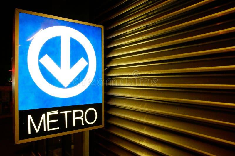 蒙特利尔地铁系统标志 图库摄影